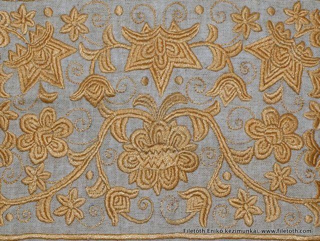 gold: Filetoth Eniko, Hi Mze 002 Jpg, Hungarian Embroidery, Galleries Eniko, Magyar Himzések, Eniko Embroidery, Work Embroidery, Stumps Work