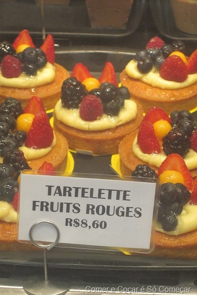 Tartelette fruit rouges do Boulangerie Guerin – na Nossa Senhora de Copacabana.