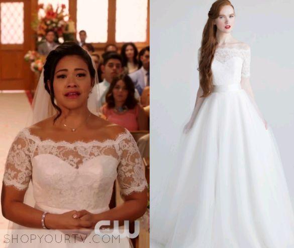 Jane the Virgin: Season 2 Episode 22 Jane's White Lace Wedding Dress