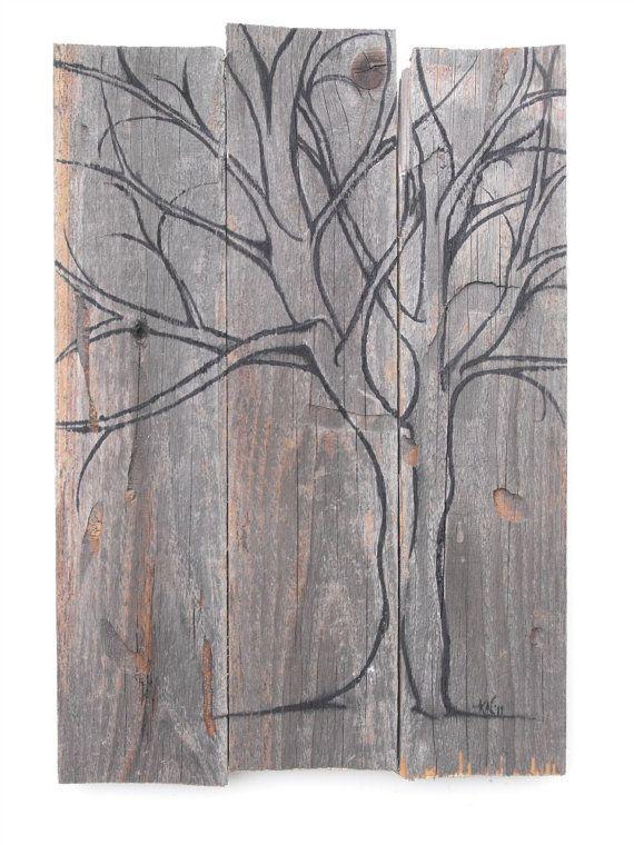Cherry Tree  Original Painting on Wood by mosswoodshop on Etsy, $80.00