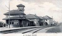 Grand Trunk Railroad Depot, Allandale (B&W, Part of modern day Barrie)