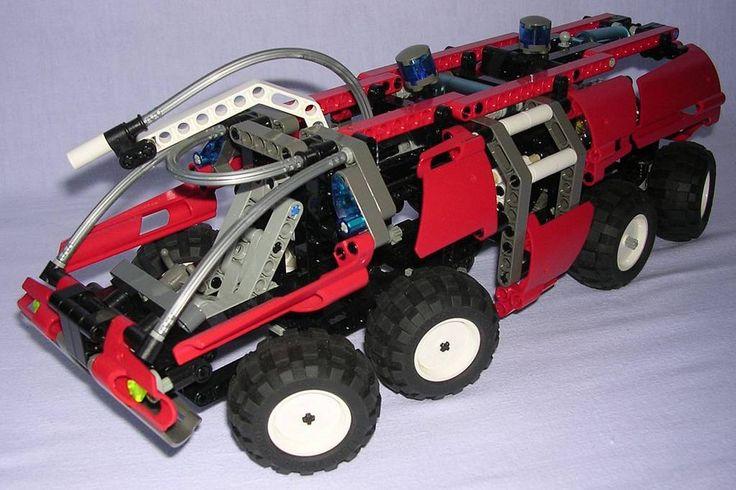 review lego technic 8454 camion de pompiers a roportuaire lego technic. Black Bedroom Furniture Sets. Home Design Ideas