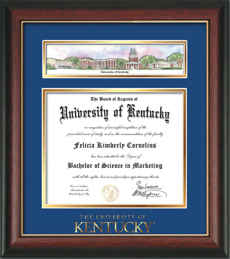 Fancy University Of Kentucky Diploma Frame Picture Collection ...