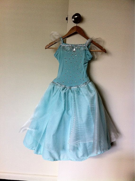 Elsa inspired Frozen princess dress costume with by MadeByBecky, $60.00