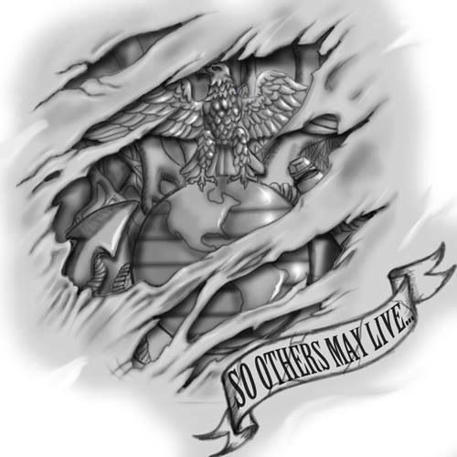 Marine Corps tattoo idea.                                                       …