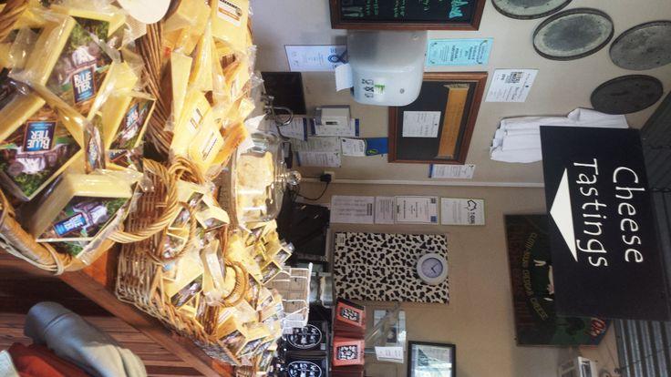 Cheese tasting at Pyengana Dairy Company, North East Tasmania