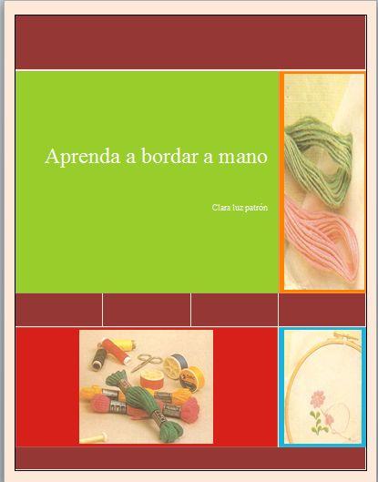 LIBRO DIGITAL EN PDF, APRENDA A BORDAR A MANO