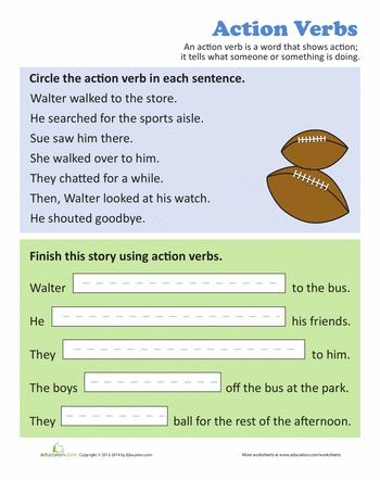 22 best worksheets images on Pinterest Grammar worksheets - active verbs