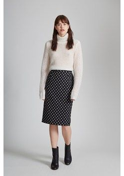Ikat Spot Stretch Pencil Skirt