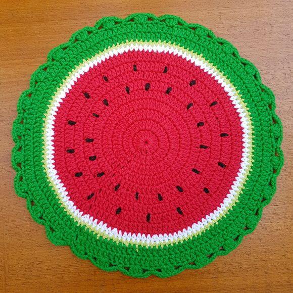 Sousplat/Jogo Americano em Crochê  Valor unitário  37,5cm