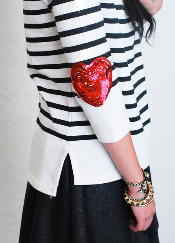 ..Removable heart elbow patches..