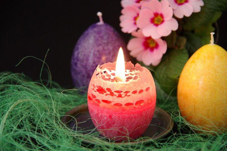 "Kerzen - DIUS LUX feine Stearinkerze ""Ei-Kerze"" - ein Designerstück von Kerzle-Manufaktur bei DaWanda"