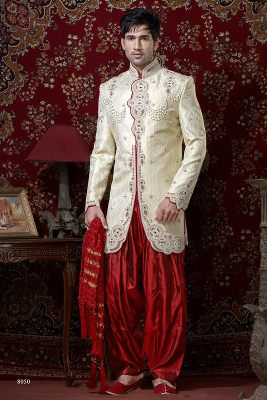 Sherwani For Men : Sherwani Designs, Designer, Groom & Wedding Sherwanis. We are Jugniji.com selling Indian wedding sherwanis online and on this page you can buy @ Shop online at http://jugniji.com/mens-collection/western-look-sherwani/western-sherwani-2128.html