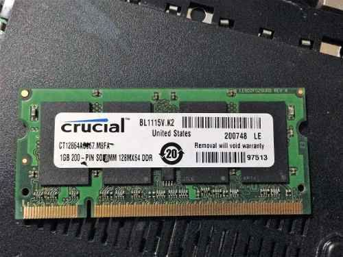 Memoria RAM DDR2 para Laptop 1GB  DDR2-667  PC2-5300 CL5  1GB  1Rx8 1.8V SODIMM