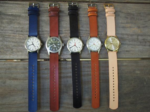 Leather Watch Strap For Timex Weekender and by JGrantsGeneralStore