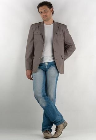 Клубный пиджак мужской для большого мужчины