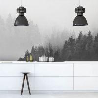 Fototapeta z drzewami we mgle