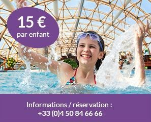 Vitam Waterpark in Saint-Julien-en-Genevois, 15% cheaper with 4 people including 1 kid. 50% cheaper on Tuesdays excluding holiday seasons.