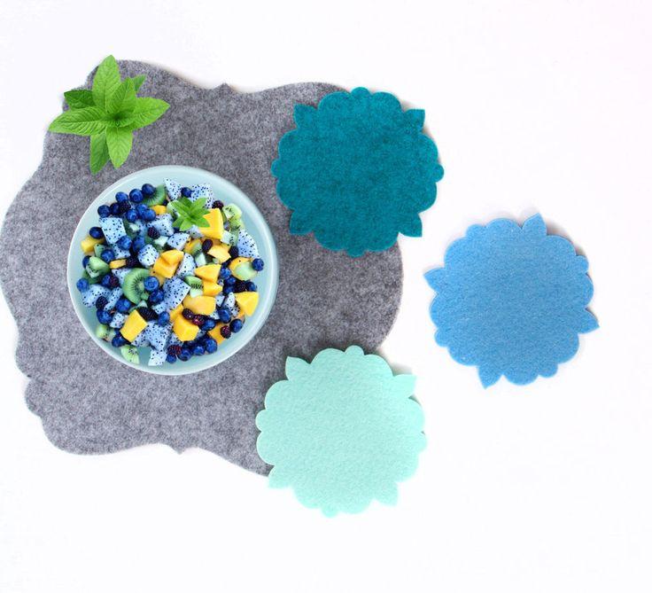 ORIENT 4er Set FILZ Untersetzer Tassenuntersetzer Glasuntersetzer / 34 Farben