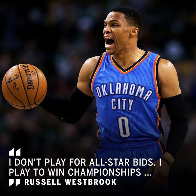 Russell Westbrook shared how he feels about being snubbed as an All-Star starter.