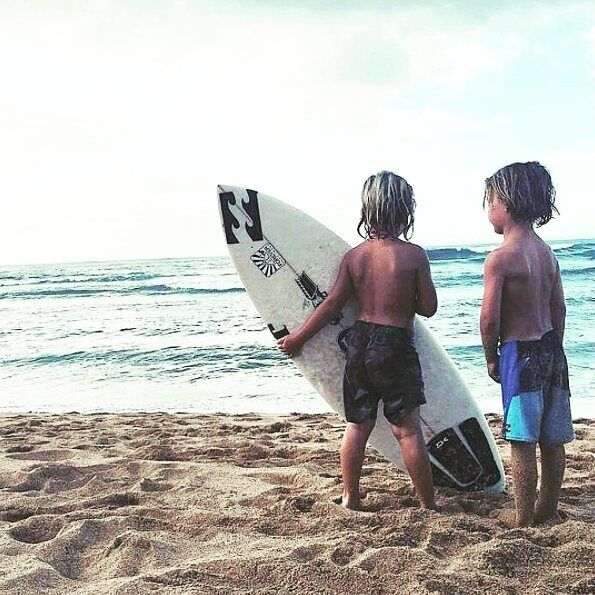 It's never to early to start <3 :) @lyndieirons #surf #surfboard #bali #indonesia #holidays #happy #love #summer #beach #sand #travel #wave #surfers #sunshine #kids