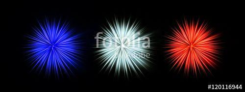 Luci pirotecnici con colori Francesi _ Blu, Bianco e Rosso