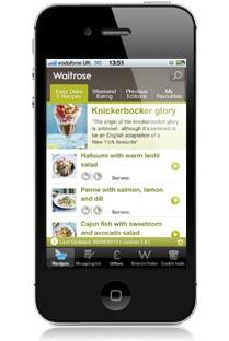 Waitrose grocery app