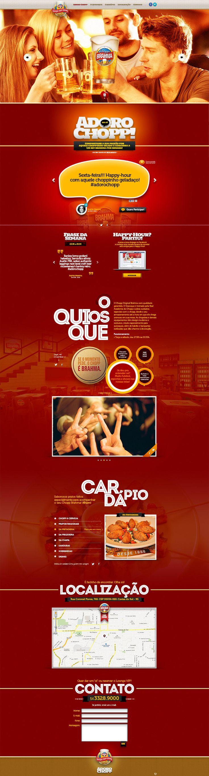 Website Quiosque Chopp Brahma