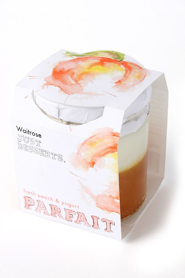 Fruit and yogurt parfait packaging for Waitrose