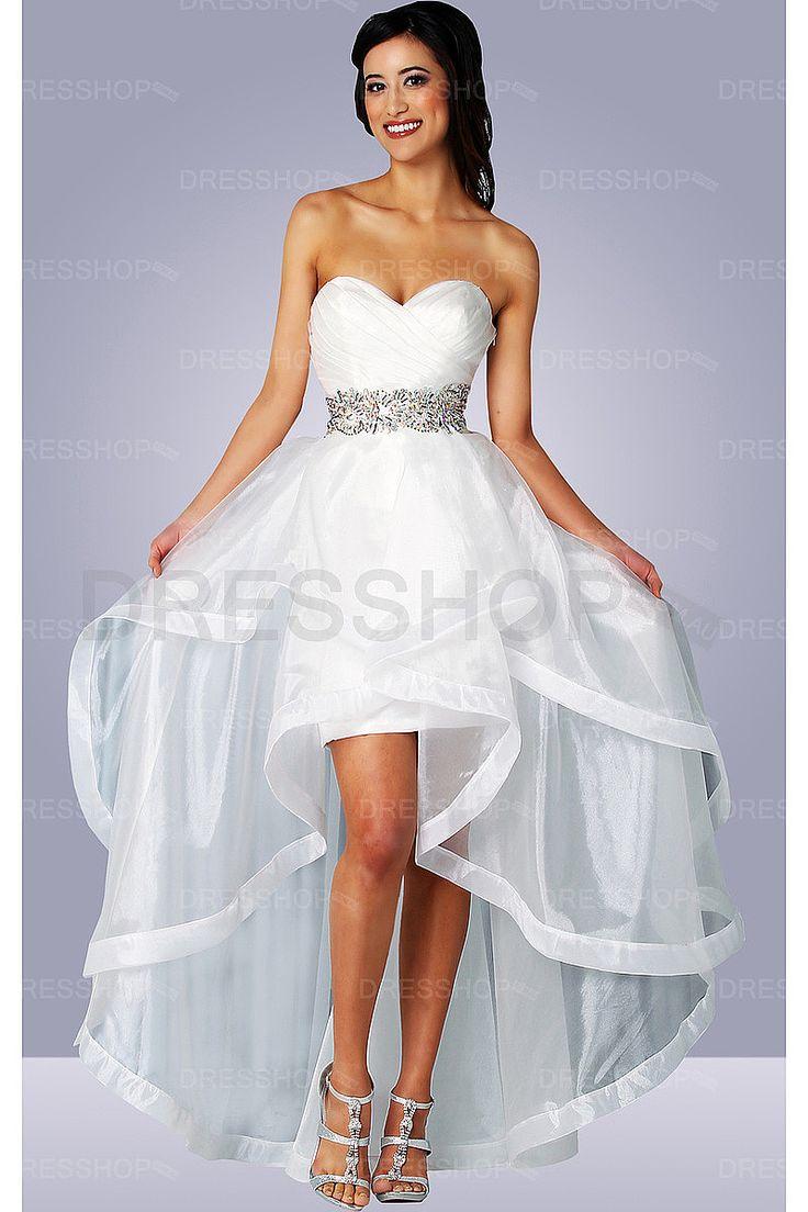 Beach Natural Sleeveless A-line Asymmetrical Wedding Dresses - Beach Wedding Dresses - Wedding Dresses - Dresshop.com.au
