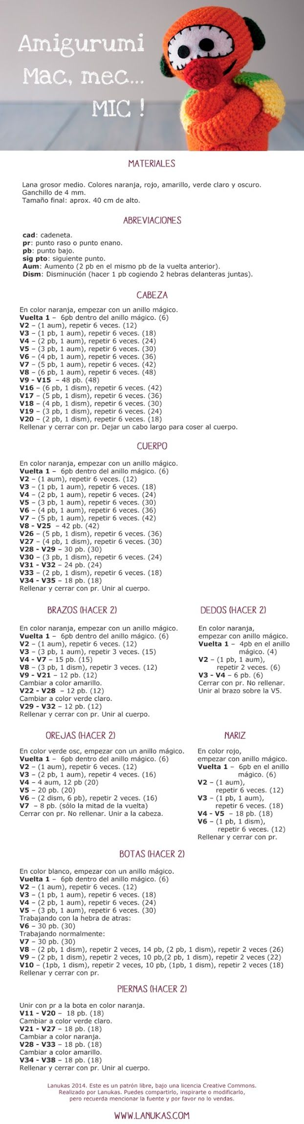 Patrón amigurumi Mac, Mec... Mic!  http://www.lanukas.com/2014/01/patron-amigurumi-mac-mec-mic.html