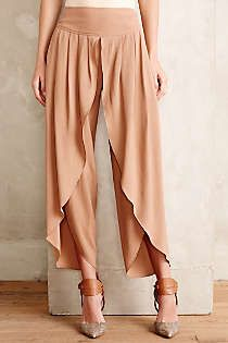 Anthropologie - Cropped Tulip Trousers