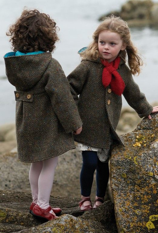 Si+Lu Donegal tweed children's coat made with local craftsmen