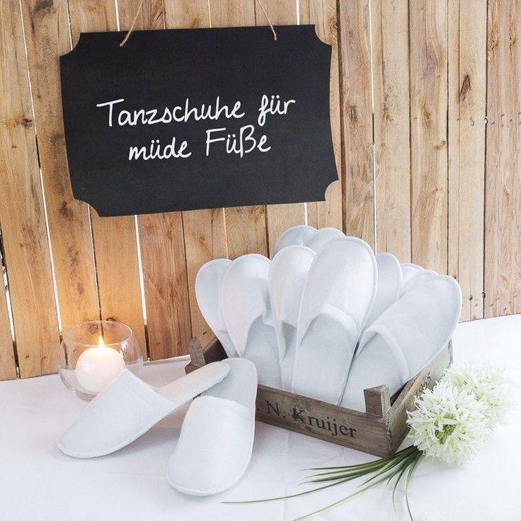 Pantoffeln fr mde Tanzfe  Gastgeschenke  Hochzeit