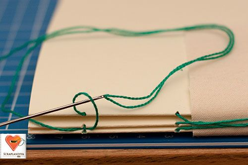 Despite being in Russian, the photos make this a great book binding tutorial.