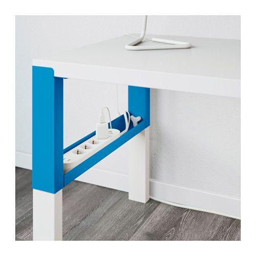 PÅHL Skrivbord - vit/blå - IKEA