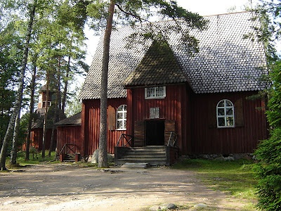 The old church of Karuna, Finland (1685),  located today at Seurasaari Open Air Museum in Helsinki