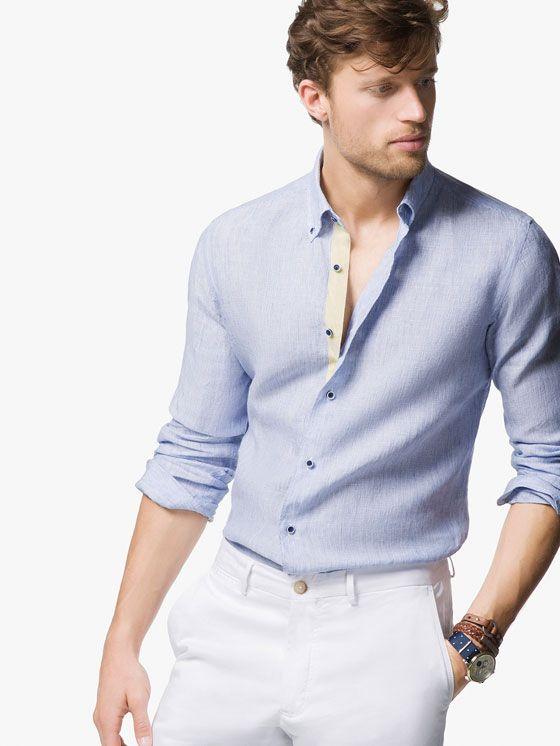 STRIPED SLIM-FIT LINEN SHIRT. Men's FashionFashion For ...