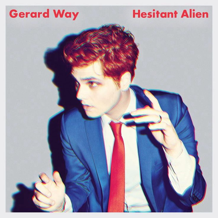 Gerard Way, cover art for his first solo effort, Hesitant Alien, to be released Sept, 2014.