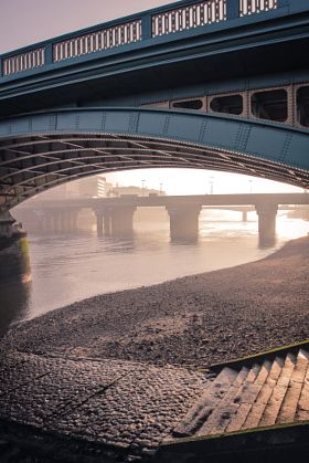 Early Morning in London - stock photo