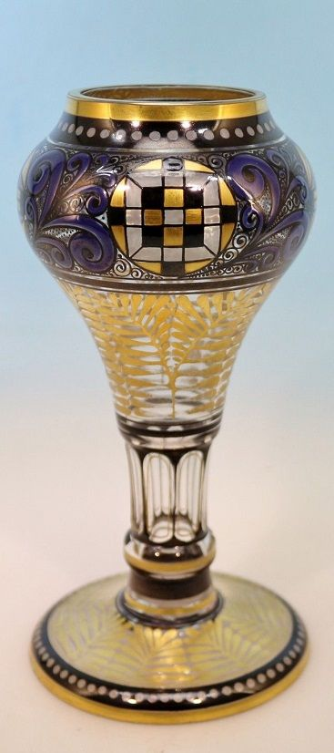 Art Deco Vase Steinschönau, Haida,
