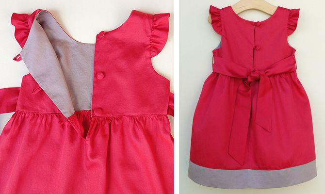 vestido camila - vestido infantil molde e tutorial de costura