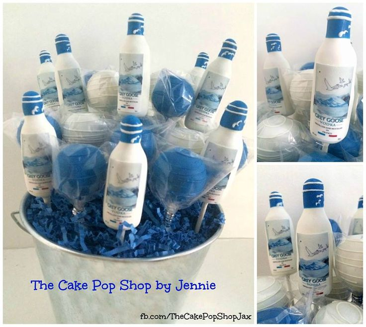Grey Goose Vodka Cake Pops Cake Cute Cake Pops