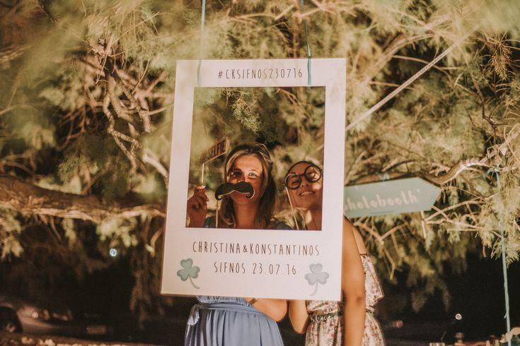 lafete wedding, Photobooth polaroid sifnos Cyclades