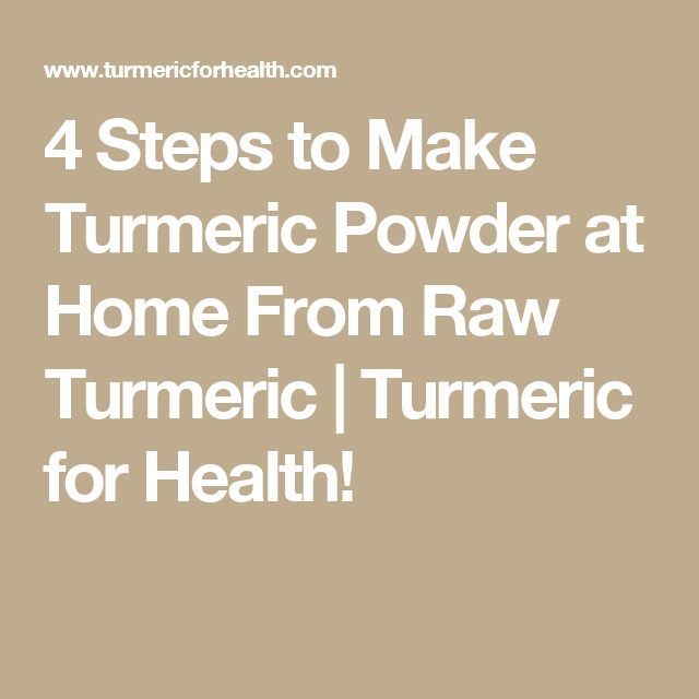 4 Steps to Make Turmeric Powder at Home From Raw Turmeric | Turmeric for Health!