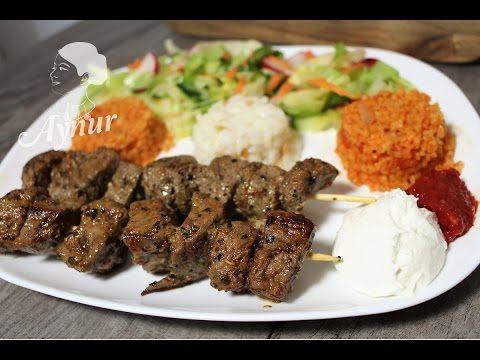 Dana etiyle Kuşbaşı Şiş Kebap Nasıl Yapılır # ET NASIL YUMUŞATILIR - YouTube