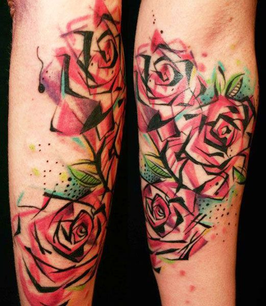 98 best ink images on pinterest tattoo ideas for Abstract rose tattoo