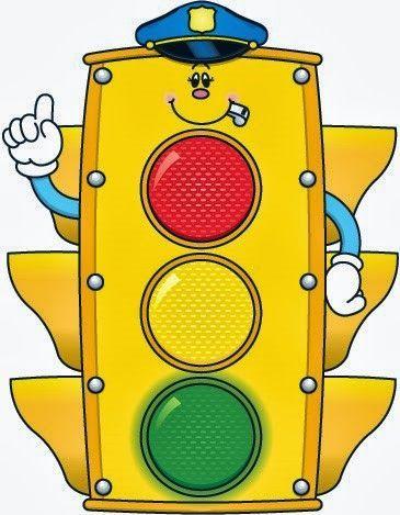 Картинка веселого светофора, днем