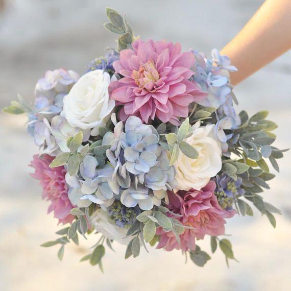 Ramo de novia, ramo púrpura, flores de la boda, ramo de novia, ramo, flor …