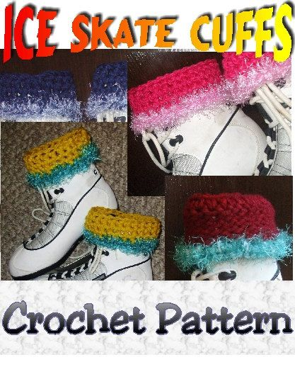 Crochet Ice Skate  Boot Cuff  PATTERN  Instant Download by Sydric, $1.88